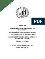 6 Congresso Fisioterapia ANAIS