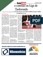La liga de Taekwondo del Meta en problemas