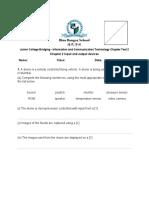 ICT JCB Chapter Test 2
