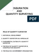 Copy of Mensuration and Quantity Survey