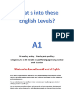 Beginner Levels of English