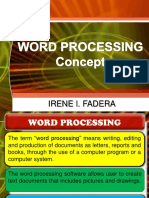 Word Processing Concept