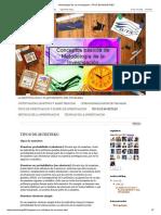 Metodología de La Investigacion_ TIPOS de MUESTREO
