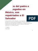 Cuerpos Del Padre e Hija Ahogados en México