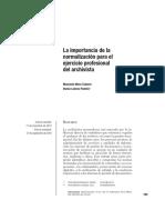 57919-167524-2-PB-La Importancia de La Normalización Para El Ejercicio Profesional Del Archivista