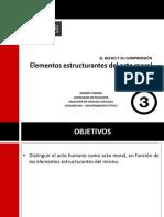 Presentacióelemento  N°3. Elementos estructurantes del acto moral