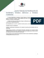 Manual de Usuario Sistema de Notificacion de Incidentes, Eventos Adversos y Eventos Centinela.pdf