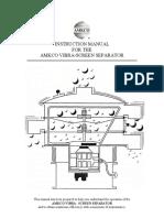 AMKCO Vibra-Screen Separator IOM Manual (Model 18'' to 72'')