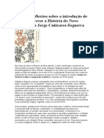 """Algumas Reflexões Sobre a Introdução de Como Escrever a História Do Novo Mundo"""", De Jorge Cañizares-Esguerra"""