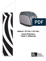 Zebra p110i Printer and Zebra p110m Printer User's Manual