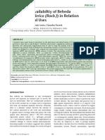 Antioxidant Availabiltiy of Beheda (Terminalia Bellerica (Roxb.)) in Relation to Its Medicinal Uses