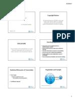 Biostatistics I Handout