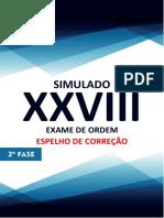 Espelho 1º Simulado 2ª Fase Xxviii Administrativo 2019