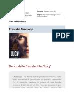 """Frasi Del Film """"Lucy"""""""