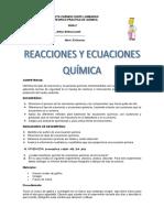 Guia de Reacciones y Ecuaciones Químicas