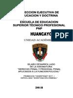 Silabo de Derecho Penal y Procesal Penal Aplicados a La Funcion Policial Actual