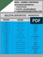 04-Agosto Boletin Parley Mundial Pronosticos Gabriel Contreras