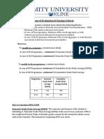 Scheme of Evaluation & Passing Criteria 112