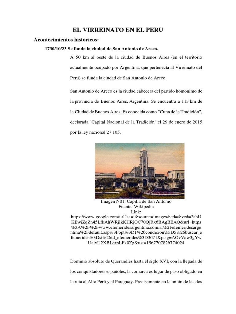 El Virreinato en El Peru | Temblores