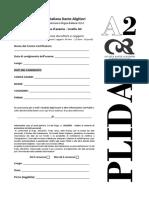 PLIDA A2 - Prova Esempio - Ascleg