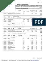 Analisis de Costos Pavimento