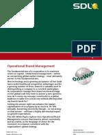 WP OneWeb SDL Operational Brand Management