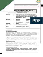 especificaciones tecnicas de una comisaria