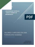 Valores y Virtudes en Una Formación Humana Final