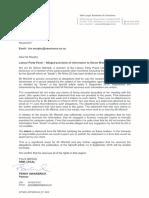 Simon Mitchell Legal Letter