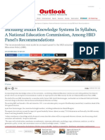 Indian Knowledge Systems in Syllabus