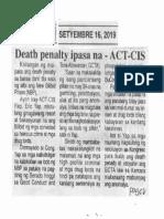 Ngayon, Sept. 16, 2019, Death penalty ipasa na - ACT-CIS.pdf