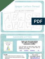 Montessori Sandletter Alphabet