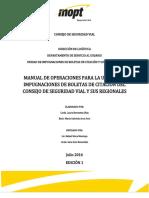 Manual de Operaciones Para La Unidad de Impugnaciones de Boletas de Citación Del Cosevi y Sus Regionales