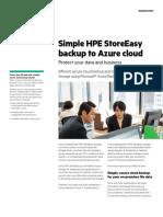 HPE StoreEasy Backup backup to Azure