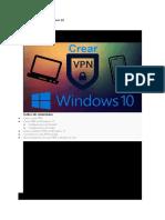 Cómo Crear VPN en Windows 10