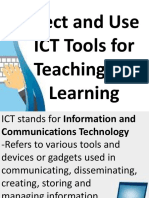 FILIPINO TTL1 Grp3 Select and Use ICT Tools for Teaching and Learning