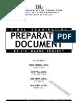 Preparation Document Last Edition