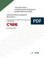 Estudio Servicios Complementarios  Creg colombia