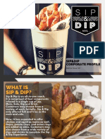 Sip&Dip Corporate Profile