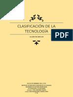 Clasificacion de La Tecnologia