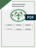 Cover Laporan Audit Internal Agustus 2018