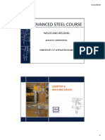 Advanced steel design - Welds
