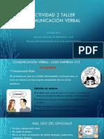ACTIVIDAD 2- Comunicación Verbal