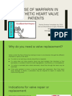 THE USE OF WARFARIN IN PROSTHETIC HEART VALVES PATIENT short version.pptx