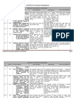 Checklist of Inventory Management