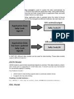 In SAP UI5 Data Binding