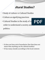 Lecture 2 and 3 Origins of Cultural Studies