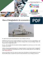 Rise of Bangladesh-An Economic Success Story