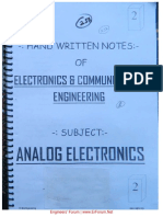 Notes on analog electronics