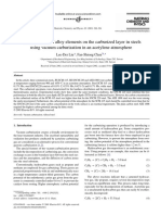 The influences of alloy elements on the carburized layer in steels using vacuum carburization in an acetylene atmosphere